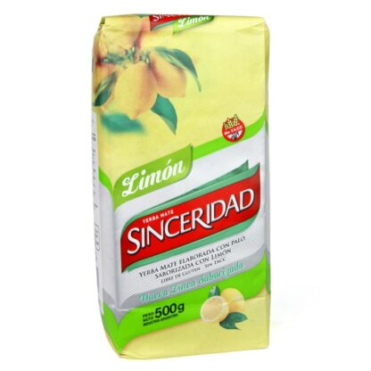 Yerba Mate Sinceridad Limon (Lemon) 500g